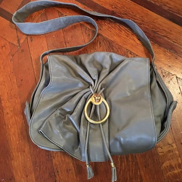 d84ccbbb7e8b Gucci Bags | Authentic Rare Gray Leather Bag Lion Head | Poshmark